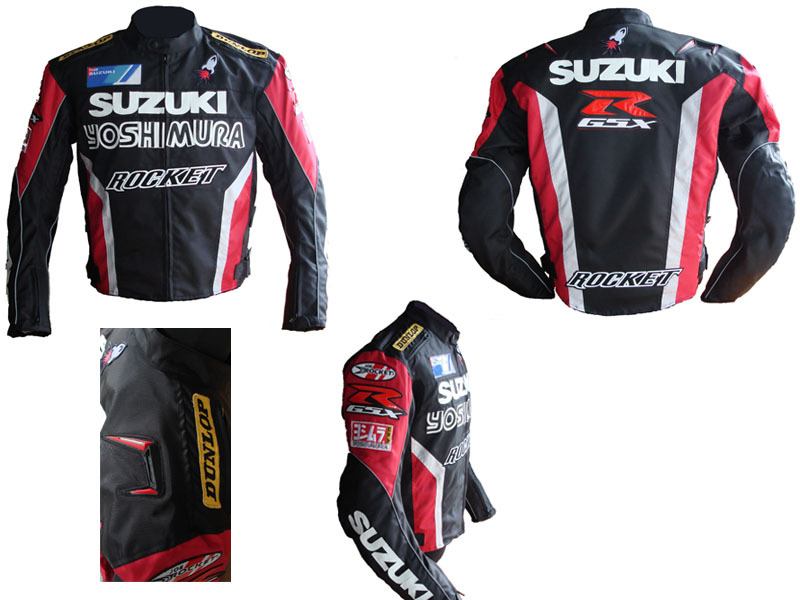 free shipping SUZUKI road Motorcycle Jackets Racing Jacket CE certification motocross motorbike clothes for men Pu leather(China (Mainland))