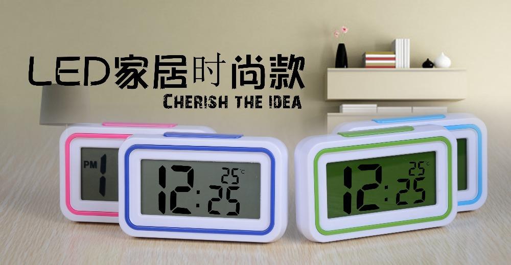 ATIMA clock Voice Alarm Temperature Sensing Digital Time Date DisplayLED Clock Repeating Light-activated - Miss Six store