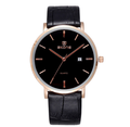Luxury SKONE Brand Gold Genuine Leather Strap men Watches business Fashion Casual Quartz Wrist watch