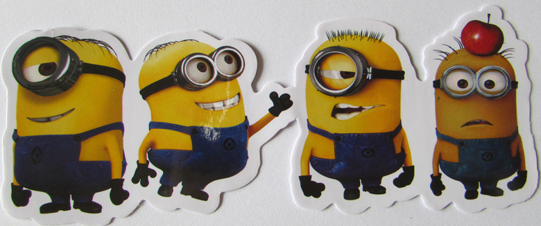 135x50mm cheaper vinyl car sticker for Minions Despicable Me Football Fans Clubs Minions Car Window Sticker Decal(China (Mainland))
