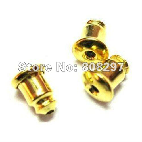 DIY Charm 5mm*6mm Copper Earrings Back Stoppers Gold Plated Beads Jewelry Finding 5000Pcs/Lot