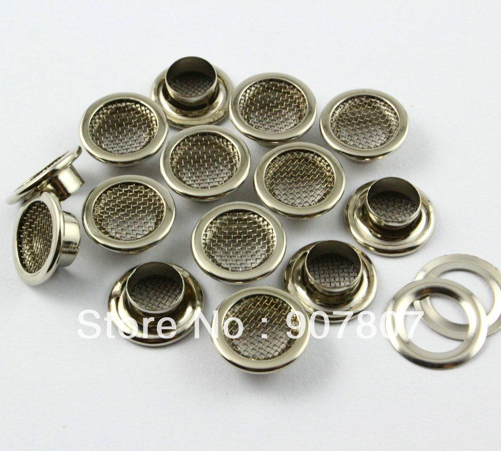 Гаджет  12mm Silver Round Mesh Grommet Eyelet  Free Shipping Wholesale High Quality None Аппаратные средства