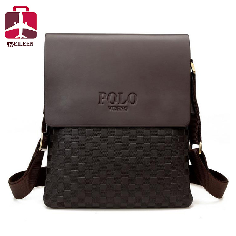 2016 Polo men messenger bag leather briefcase designer famous brand high quality business briefcase bag office bags for men(China (Mainland))