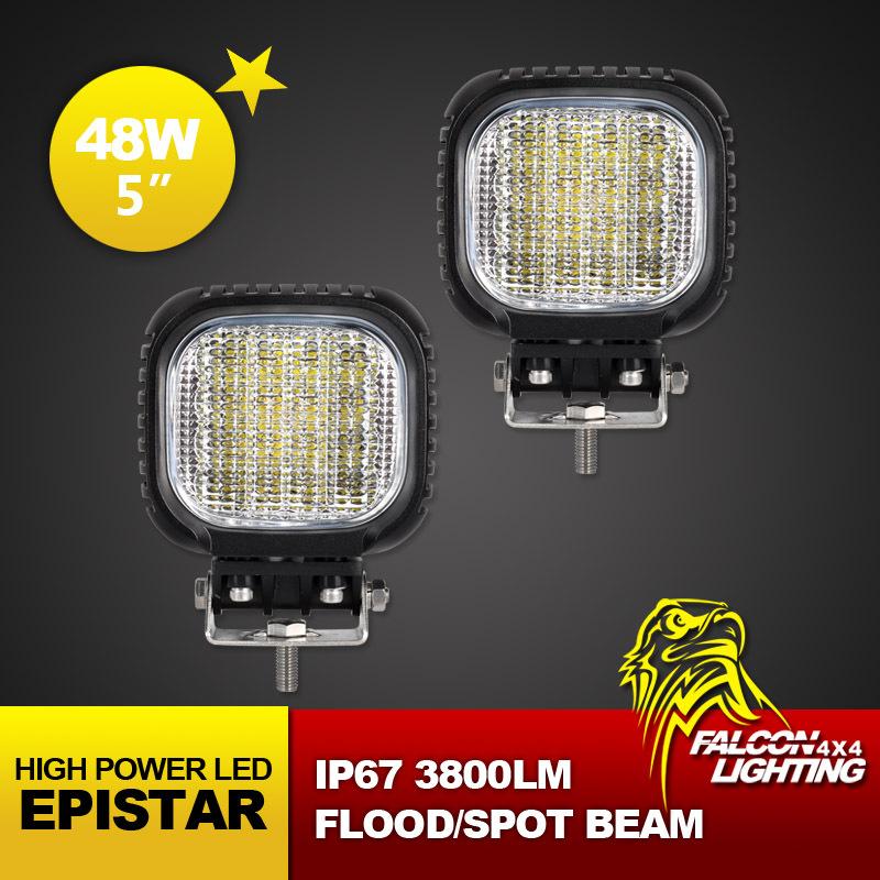 "Free Shipping!! 2PCS 48W 5"" Inch CREE LED Work Light 3500LM, Fog Light For Off Road 4x4 , Motocycle Boat ATV Spot Flood 12V24V(China (Mainland))"
