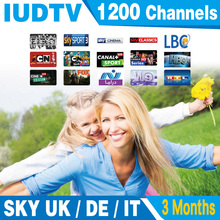 Arabic European IPTV 3 months IUDTV 1200 TV Sky DE UK IT Box Office Canal Turkey