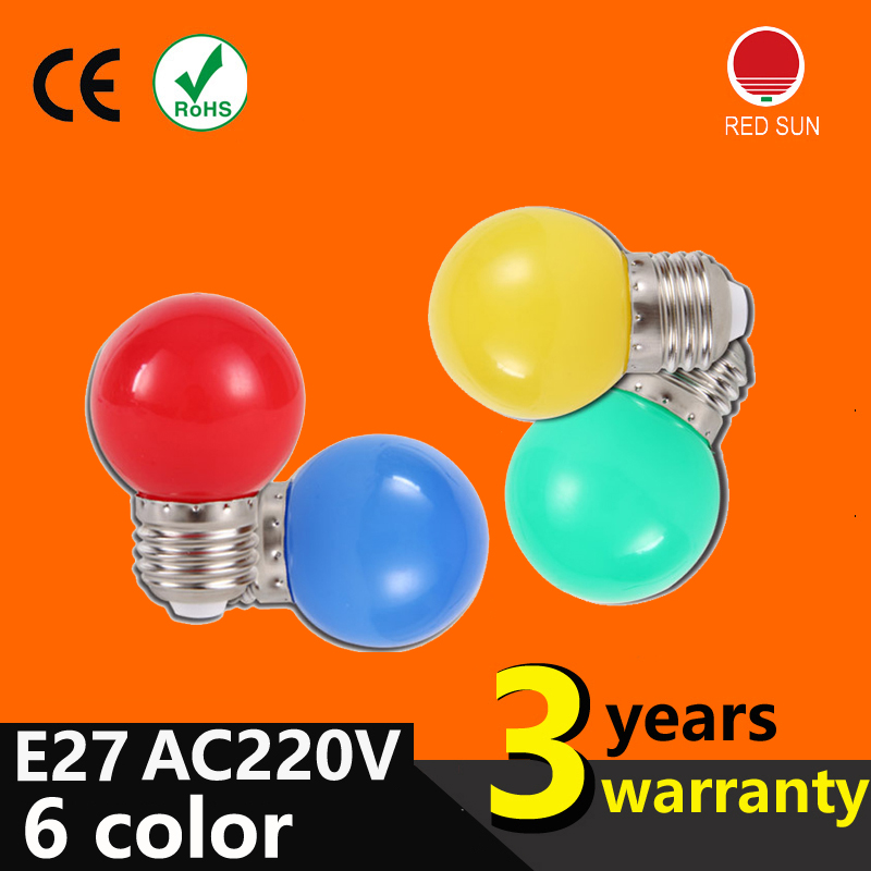 Wholesale LED light bulb color E27 lo 1W small light bulb outdoor decorative indoor air, colorful lighting Christmas lights(China (Mainland))