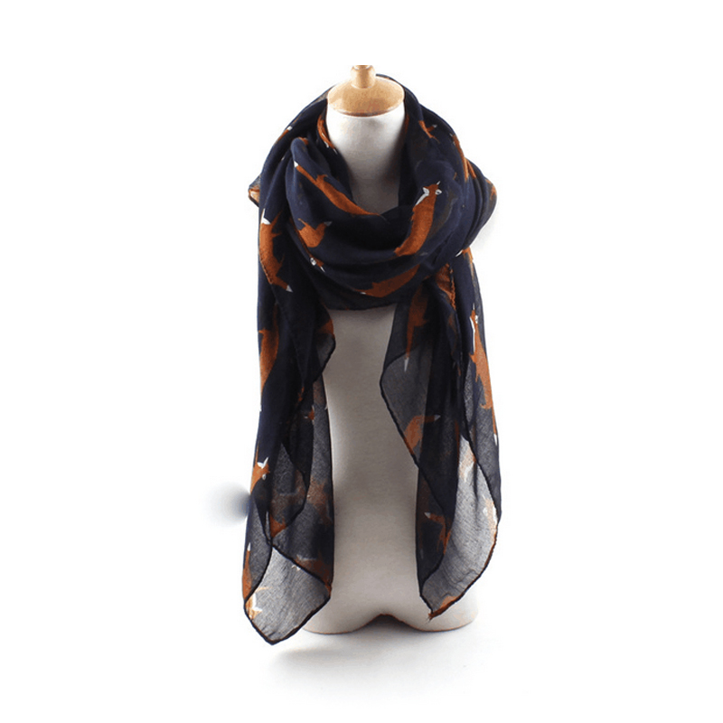 Wholesale Lot 10 pcs 180*100cm New Fashion Woman Scarf Fox Print Womens Scarves Female Shawl Wrap Cotton Voile Scarves Cover ups(China (Mainland))