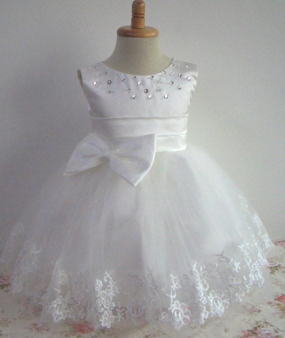 Girl dress little baby girl baptism dress sleeveless infant toddler