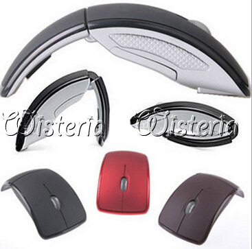 Promotion Mini USB 2.4Ghz Snap-in Transceiver Optical Foldable Folding Arc Wireless Mouse for PC Laptop Computer Mice Free Ship(China (Mainland))