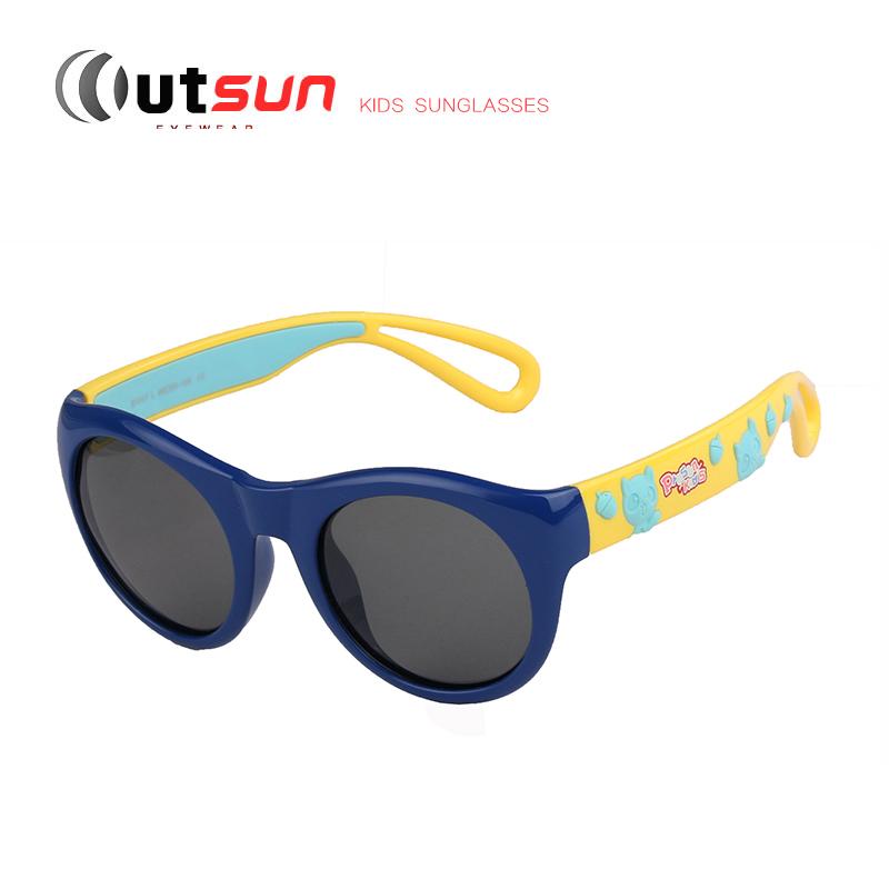 OUTSUN Cute Kids Polarized Sunglasses Baby UV400 Anti-Glare Sun Glasses Soft Rubber Baby Infantil Safety Goggles Oculos De Sol(China (Mainland))