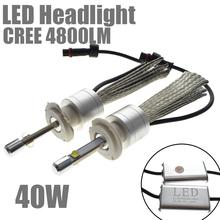 Car Styling 40W DC9~32V COB LED Headlight H1 H3 H4 H7 H8 H9 H11 9005 HB3 9006 HB4 External Light Source Headlights Blub - Super-Auto store