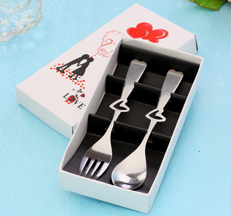 Creative Wedding Return Gifts : 10pairs /lot Creative wedding gifts in return stainless steel cutlery ...