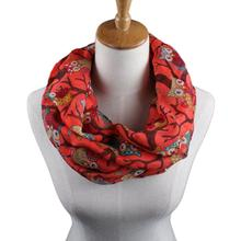 Womail Newly Design Women Ladies Owl Cartoon Print Scarf Warm Wrap Shawl O Neck Rings 160405 Drop Shipping Womail(China (Mainland))