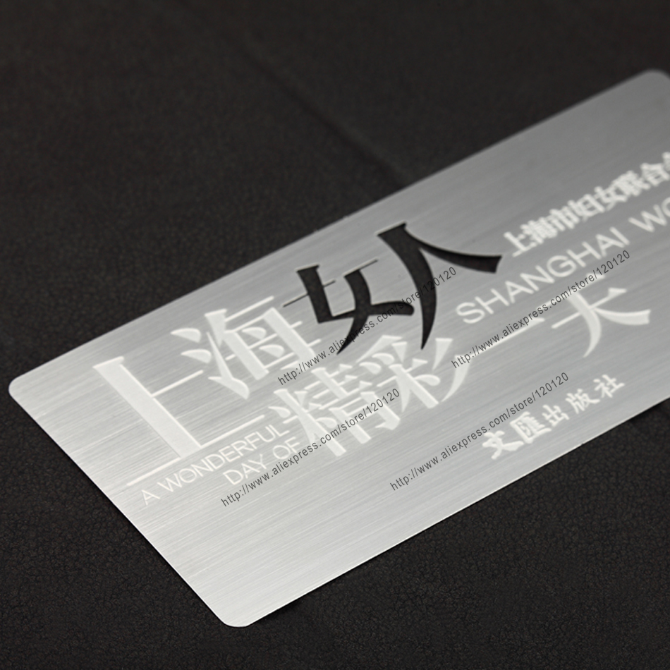 Personalized name cutout quality cataphoresis black  business metal card<br><br>Aliexpress
