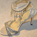 Fashion Summer sexy Sandals Nice Rhinestone Wedding Shoes High Heel Shoes lady wedding dress shoes Party