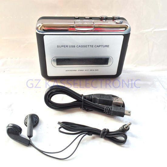 2015 new cassete player mp3 converter, convert tape cassette to MP3 through PC for Window7 Windows8 MAC OS free shipping(China (Mainland))