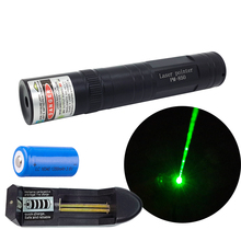 Green laser pointer green point laser flashlight with rechargeable 16340 battery and charger H024