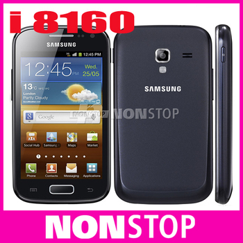 Original I8160 Samsung Galaxy Ace 2  Cell phone Android 3G WIFI GPS Dual-Core Smart mobile phone  Free Shipping Refurbished