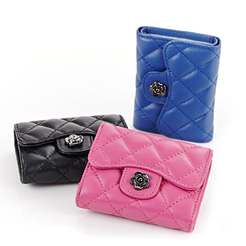 New 2015 100% Cow Genuine Leather Wallet Women Classic Paid Wallets And Purses Designer Wallets Famous Brand Women Wallet AL4453(China (Mainland))
