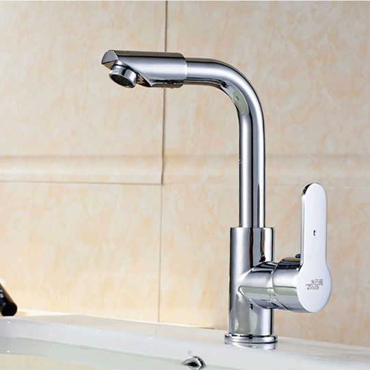Brass Kitchen Faucets Hot And Cold Water Chrome Basin Sink Square Cozinha Taps Mixer Tap Brushed