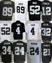 #52 Khalil Mack Jersey 89 Amari Cooper #4 Derek Carr #34 Bo Jackson ,American Football Jersey Elite Sports Stitched Jerseys