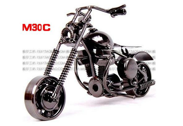 The new fashion wrought iron metal motorcycle model furnishing articles free shipping(China (Mainland))