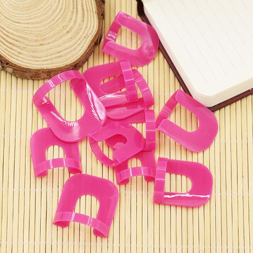 26x Nail Polish Edge Anti-Flooding Plastic Template Clip + 1 Pc Sticker Tool Set