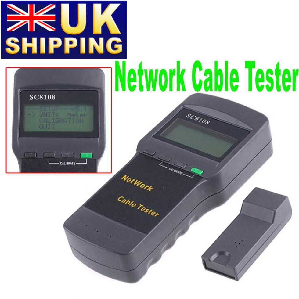 Portable Wireless Network Cable Tester LAN Phone Cable Tester & Meter LCD Display RJ45, 5pcs/lot DHL Free Ship Wholesale(China (Mainland))