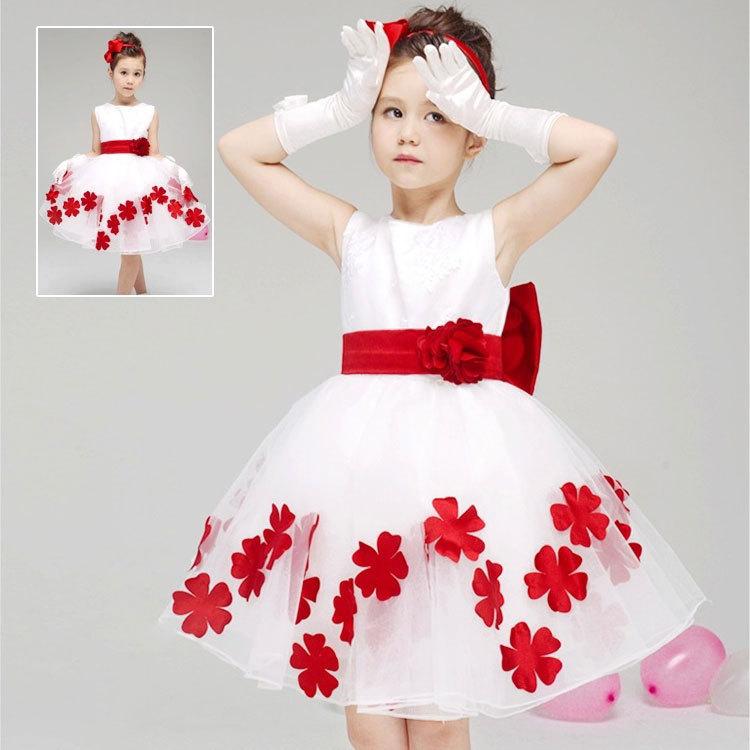 Vestidos Infantis Summer Flower Girl Dress Elegant Baby Girl Party Dress Kids Dresses For Girls Petal Princess Tutu Dresses(China (Mainland))