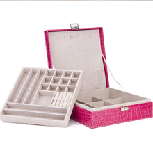 1pc 26*26*9cm new arrive latest modern style simple color jewelry box furniture jewelery box necklaces pendants velvet box(China (Mainland))