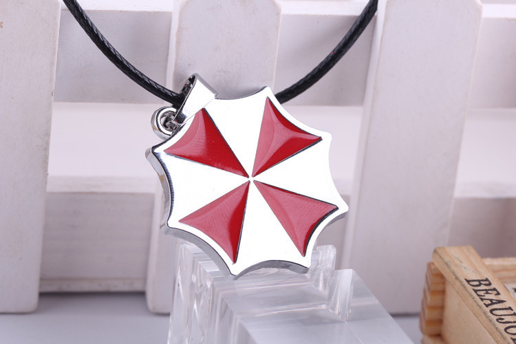 Movie Jewelry Resident Evil Necklace Umbrella Corporation Stainless Steel Chain Pendant Necklace 12pcs/lot(China (Mainland))