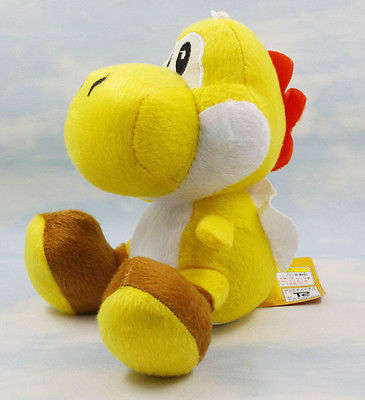 2016 Super Mario Bros World 7in Yellow Yoshi Stuffed Animal Nintendo Game Plush Toy(China (Mainland))