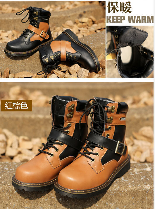 Фотография men special forces combat boots fashion casual tooling boots military uniform outdoors Martin shoes free shipping H1879