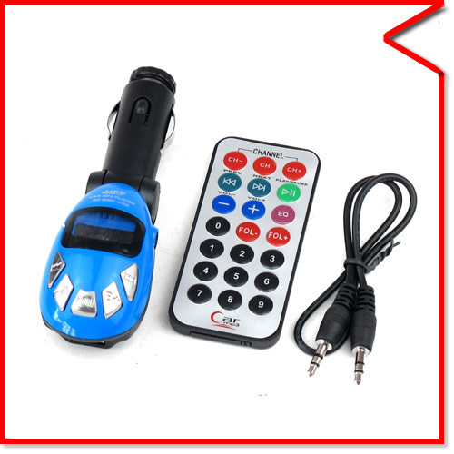 3 in 1 USB Auto CAR Vehicle FM TRANSMITTER FOR MP3 Audio Device PLAYER SD MMC SLOT+Wireless Remote(China (Mainland))
