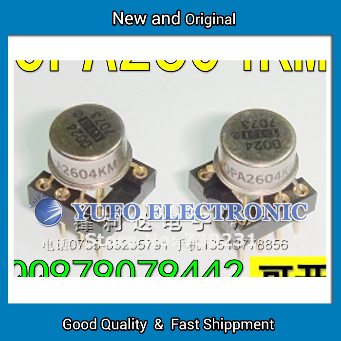 Free Shipping 1PCS Hot new original US production OPA2604KM top gold seal dual op amp to send the military high vacuum degree IC(China (Mainland))