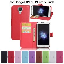"""Buy Doogee X9 Pro Wallet Flip Leather Case Card Slots Stand Holder TPU Cover Doogee X9 / X9 Pro 5.5""""Cell Phone Bag for $2.99 in AliExpress store"""