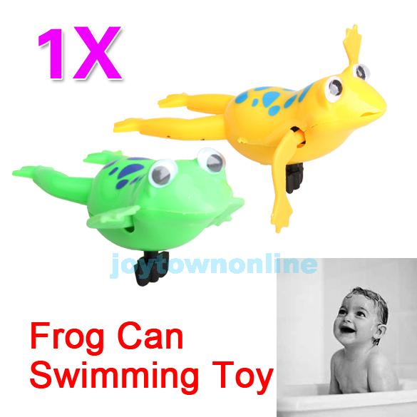 Swimming Frog Battery Operated Pool Bath Cute Toy Wind-Up Swim Frogs Kids Toy S16(China (Mainland))