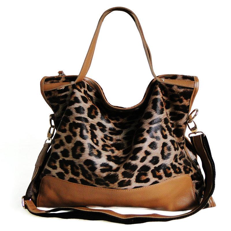2015 new design hot sale genuine leopard leather women tote lady fashion casual handbag fashion crossbody bag free shipping<br><br>Aliexpress