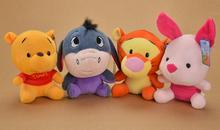 Plush pendant wholesale 4pcs 22cm cartoon Winnie Flying Pigs donkey wedding little cupula doll children girl gift stuffed toy