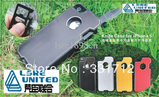 Knife Case Outdoor Multifunction Hard Cover Bottle Opener for iphone 5 5G iphone5 Black Silver Gold