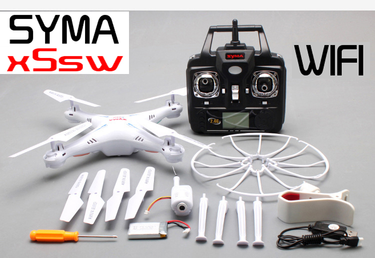 Super Hot Syma x5sw (Black and White) 2.4G 4CH 6-Axis 2MP WIFI aerial RC Helicopter Quadcopter Toys Drone With Camera and x5sw-1(China (Mainland))