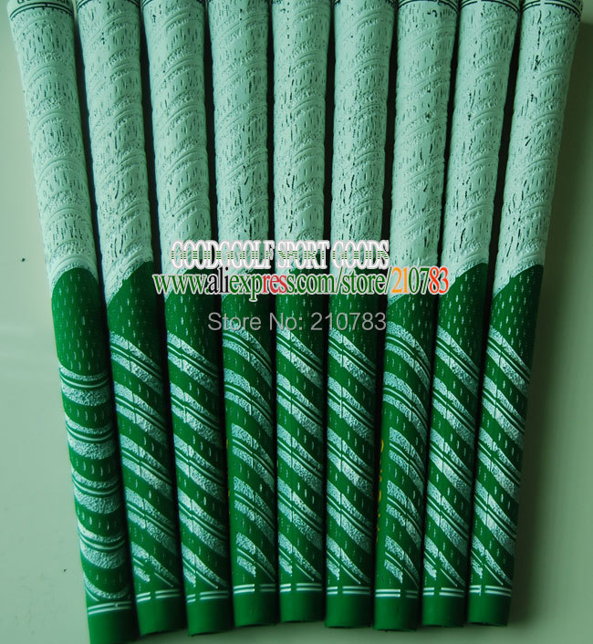 20pc/Lot New golf club Grips Green/White.Rubber Golf irons Grips,Can mix Color Grip,EMS