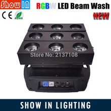 2016 Newest Design 9PCS 15W Unlimited DJ Disco Party Wedding Stage Lighting Projector RGBW LED Beam Wash Moving Head Light(China (Mainland))