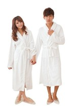 Unisex Women&Men Coral Fleece Loose Long Sleepwear Robes Bathrobe Spa #8 Colors(China (Mainland))