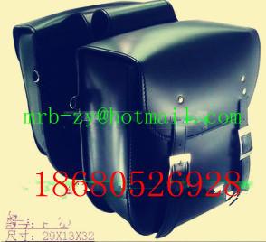 Free shipping Saddle bag Leather Motorcycle saddlebags luggage NEW