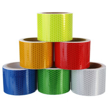 Pure Color Reflect Light Safety Security Caution Reflective Tape Warning Tape Sticker Self Adhesive Tape(China (Mainland))