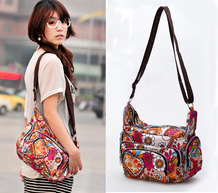 Free shipping Spring Shoulder Messenger bag ladies casual waterproof nylon angle / shoulder bag<br><br>Aliexpress