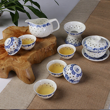traditional and modern ceramic tea set bone china teacup cheap tureen gaiwan+chahai tea sea+6cups