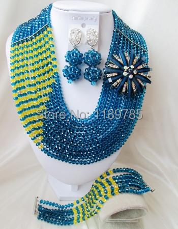 The newly designed PROM bride wedding jewelry set 18 k wedding bride Nigeria Crystal Beads Jewelry set  free shipping B-12322<br><br>Aliexpress