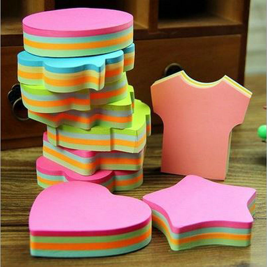 100 Pages Multicolor Sticky Notes Cute Office Love Memo Pads Sticker Post It Bookmark Marker Flags Sticker Planner Briefpapier(China (Mainland))